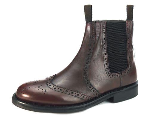 Frank James Evesham Burgundy Welted Boots
